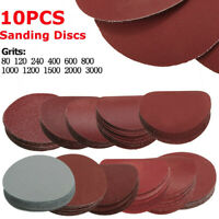 10PC 75mm 80-3000 Grit Papier de Verre Ponçage Polissage Abrasif Disque Ponceuse