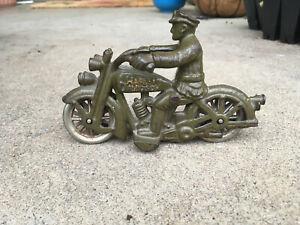 HUBLEY MOTORCYCLE WITH NICKEL WHEELS, VINTAGE, ORIGINAL, NEAR MINT