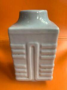 Antique Chinese Export Blue-Glazed Square Porcelain Vase No Mark 19th