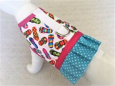Flip Flop Dog Harness Vest With Matching Ruffle Skirt