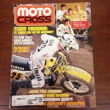 SEPTEMBER 1983 MOTOCROSS MAGAZINE 125 / 250 / 500 GP'S  BROC GLOVER VINTAGE VMX