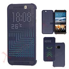 Slim DOT MATRIX VIEW Smart Flip Case Cover for HTC One M9 (2015 Edition)