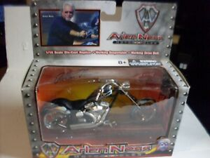 Iron Legends Arlen Ness Black and Flames Chopper Motorcycle die cast 1:18