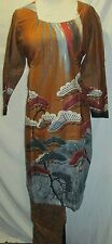 new design beautiful gold print  sofe cotton  salwar kameez Size XL 44