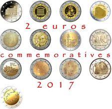 2 euros commemoratives 2017 Neuves du rouleau UNC plusieurs pays disponible