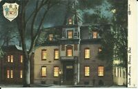 Dover Kent County Delaware State House at Night 1908 Fulks Run Postcard