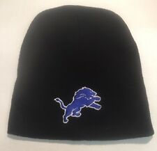 Detroit Lions Black Beanie Winter Hat Skullcap new