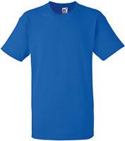 Tee-shirt Fruit Of The Loom bleu HEAVY-T 100% coton - SC61212