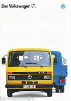 VW LT Prospekt 8/92 brochure 1992 Broschüre Lkw Nutzfahrzeuge Deutschland Europa