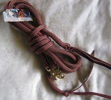 6ft Rope Split Reins BROWN Natural Horsemanship, Western Riding, Campdrafting