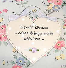 Shabby Chic GRANDMA GRANDAD NANNA Kitchen Sign from Grandchildren Xmas Birthday