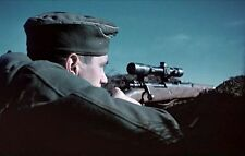 Color WW2 Photo German Sniper WWII Germany Mauser 98 World War Two / 2127
