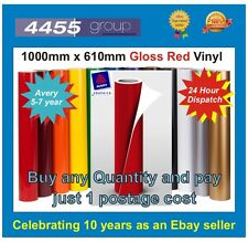 RED VINYL SHEET 1000MM X 610MM SELF ADHESIVE AVERY/3M