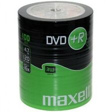 100 DVD +R Maxell vergini 120 minuti 4.7 gb new STOCK + 1 cd cdr verbatim 275737