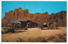 Vintage Old Advertising Postcard Mining Camp Restaurant Arizona Superstition Mtn