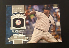 2013 Topps Mini Chasing History #MCH-26 C.C. SABATHIA Yankees Online Exclusive