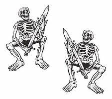 2x skeleton sticker Motorcycle Gas Tank or Car decal 2