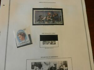 Lot of 14 United States 1976 Stamps MNH Blocks and Singles, American Revolution