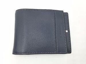 $70 Calvin Klein Mens Ck Gray Leather Bifold Rfid Passcase Id Credit Card Wallet