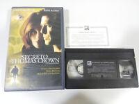 EL SECRETO DE THOMAS CROWN PIERCE BROSNAN VHS TAPE CINTA CASTELLANO