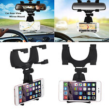 Auto Car Rearview Mirror Holder Stand Mount Cradle For Cell Phone GPS Universal