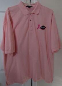 Mikes Hard Lemonade Breast Cancer Pink Ribbon Golf Polo Shirt 2XL EUC