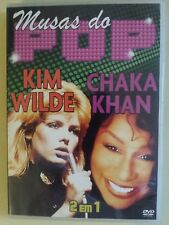 KIM WILDE, CHAKA KHAN - MUSAS DO POP  - DVD - 2 EM 1