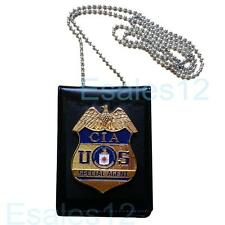 USA CIA Special Agent Officer Police Badge Card ID Cards Holder Cos Collection