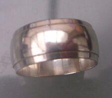 Silver Men's/Women's Vintage Wedding Band Ring Size K Weight 4g Stamped
