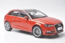 Audi A3 sportback car model in scale 1:18 red