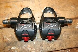 """LOOK PP396 Laurent Jalabert 9/16"""" Spindle Clipless Gray Road Bike Cycling Pedals"""
