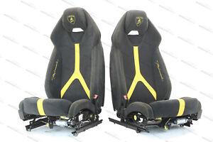 GENUINE LAMBORGHINI HURACAN PERFORMANTE COMFORT SEATS IN  BLACK/ YELLOW
