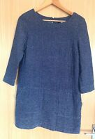 Joules Ladies Dress 6 Navy Paige Pockets Tunic Winter Smart Casual Work