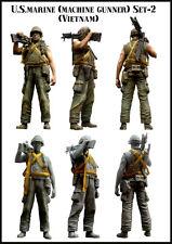 Evolution Miniatures 1:35 US Marine Vietnam Machine Gunner Set2 Resin #EM-35056