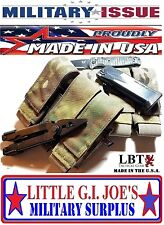 NEW MULTICAM / OCP Military Issue MOLLE/PALS Triple Pistol Mag Pouch 9MM 45CAL