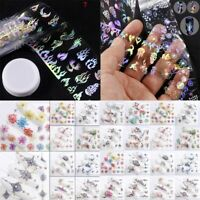 Nail Foil transfer Decal For Nails Stickers Flowers Nail Art Decoration Decals#@