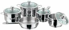 Vinod Stainless Steel Induction Friendly Tuscany Set, 5-Pieces fs