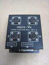 Micro-Vu WXYZ CMM Optical Comparator Inspec I/O Junction Box Rev A Free Shipping