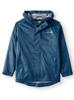 Kids Boy Rain Poncho Hooded Jacket Rainsuit Raincoat Cover Rainwear S M L