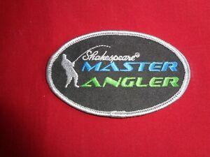 Vintage Shakespeare Master Angler Cloth Fishing Badge.