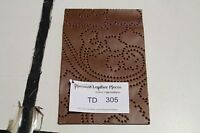 Brown Bevel-Patterned Scrap Leather Piece 5'' by 8'' TD305Z2-7