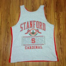 Standford Cardinal Leland Junior University Large Tank Top Shirt USA Vintage