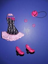 Monster High Doll Clothes Basic Fashion Pack Draculaura Outfit Dress Shoes Hat +
