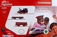 FLEISCHMANN 631881 H0 Digital z21®start Set Dampflok BR 98 mit Güterzug DB - OVP