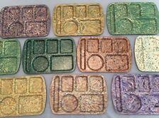 Lot 10 School Lunch Tray Melamine Prolon Ware Melmac Confetti Speckle Marbled