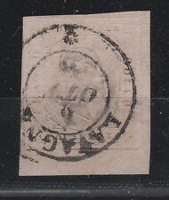 FRANCOBOLLI 1853 SARDEGNA 40 C. ROSA CHIARO LAVAGNA 6/10 Z/701