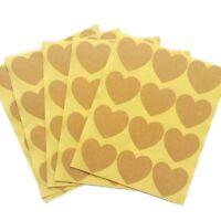 New Love Sealing Baking Brown Blank Label Heart Shape Paper Kraft Sticker