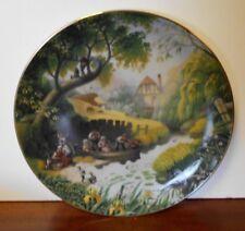 "The Danbury Mint Porcelain Collector Plate, Robert Hersey, ""Children Fishing"""
