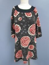 ARYEH Brown Gray Red Casual Acrylic Blend Geo Print Shift Dress Size S DD0404