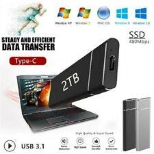 2TB Externe Festplatte HighSpeed USB3.0 Solid Drive SSD für Desktop Mobile Lapto